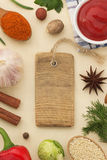 Spices background and food Stock Image