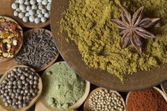 Spices background Royalty Free Stock Photo