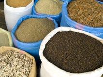 Spices in bag Stock Photos