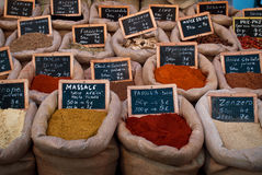 Spices in bags Royalty Free Stock Photography