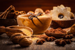 Spices and baking ingredients Stock Photography