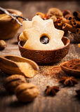 Spices and baking ingredients Royalty Free Stock Images
