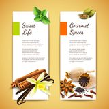 Spices banners vertical Stock Photos