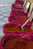 Spices. Basket in a traditional market Stock Images