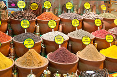 Spices bazaar Stock Photos