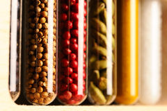 Spices in beakers Royalty Free Stock Photo