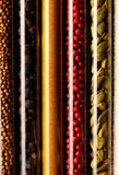 Spices in beakers close-up Royalty Free Stock Images