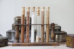 Spices for benedictine liquor Royalty Free Stock Image