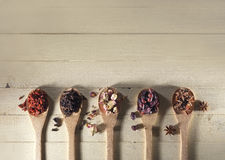 Spices and berries Stock Photography