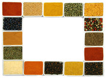 Spices border Royalty Free Stock Image
