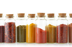 Spices in bottles Royalty Free Stock Photography