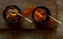 Spices in bowls Royalty Free Stock Images