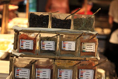 Spices at buffet Stock Photos