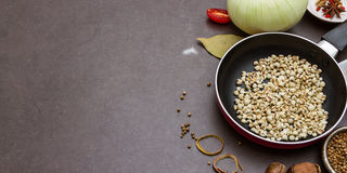 Spices ,cereals and herbs , Food and cuisine ingredient Stock Photo
