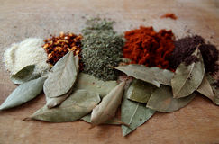 Spices. Choosing spices for daily  cooking Stock Photo