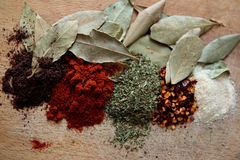 Spices. Choosing spices for daily  cooking Royalty Free Stock Image