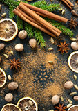 Spices for Christmas baking. royalty free stock image