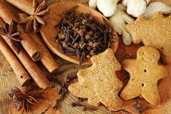 Spices for Christmas cakes Royalty Free Stock Photos