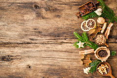 Spices for Christmas cakes Stock Photography