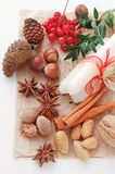 Spices for Christmas decoration Royalty Free Stock Photo