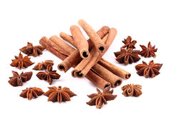 Spices cinnamon. Close up of spices cinnamon Stock Photo