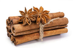 Spices. Cinnamon and anise . Stock Photography
