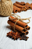 Spices, cinnamon, cloves and anise Royalty Free Stock Photo