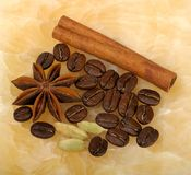 Spices and coffee Royalty Free Stock Photos