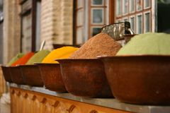 Spices in colors. Spices in variety of colors Royalty Free Stock Photography
