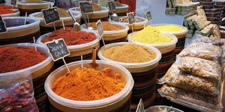 Spices colors stock images