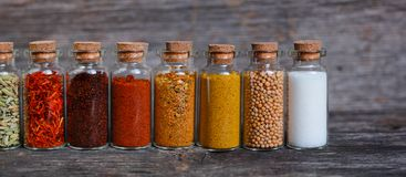Spices containers Royalty Free Stock Image