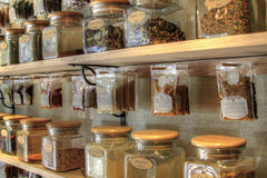 Spices for Cooking. Store Display of Blended Spices for Cooking Royalty Free Stock Photography