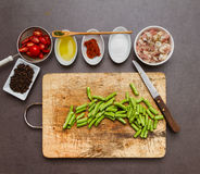 Spices for cooking and health. stock photos
