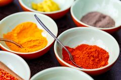 Spices cooking ingredients. For making curry Royalty Free Stock Photo