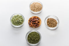 Spices for cooking. Various spices to cook a variety of flavors Royalty Free Stock Images