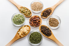 Spices for cooking. Various spices to cook a variety of flavors Royalty Free Stock Photography