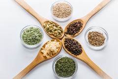 Spices for cooking. Various spices to cook a variety of flavors Stock Images