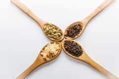 Spices for cooking. Various spices to cook a variety of flavors Stock Image