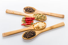Spices for cooking. Various spices to cook a variety of flavors Stock Photo