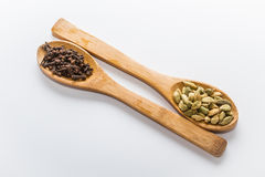 Spices for cooking. Various spices to cook a variety of flavors, cardamom, cloves Stock Photos
