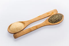 Spices for cooking. Various spices to cook a variety of flavors, garlic, thyme Stock Photo