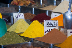 Spices, Damascus, Syria. Spices in the city of Damascus, Syria Royalty Free Stock Photography