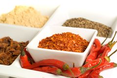 Spices in dishes Stock Photo