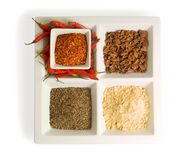 Spices in dishes Stock Photos