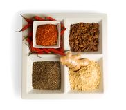 Spices in dishes Royalty Free Stock Image
