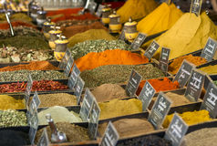Spices on display on sale at market Stock Photography