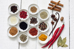 Spices and dried vegetables Stock Image