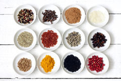Spices and dried vegetables Royalty Free Stock Images