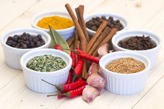 Spices and flavorings Stock Photo