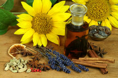 Spices and flowers Royalty Free Stock Images
